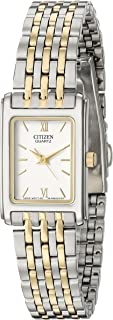 Citizen Women's Two-Tone Stainless Steel Watch With White Dial