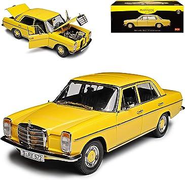 Norev Mercedes 200 //8 Strichachter W115 1968 gelb Modellauto 1:18