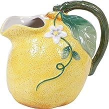 """Certified International Citron 3-D Lemon 72 oz. Pitcher, 8.75"""" x 6.25"""" x 8"""", Multicolored"""