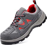 Wasnton New Steel Toe Cap Trainers Mens Womens Safety Shoes Work Footwear Non Slip Lightweight Hiker Midsole Protection Boots Size