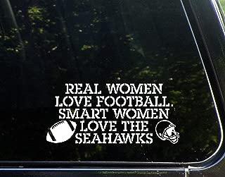 Real Women Love Football Smart Women Love The Seahawks - 8-1/4