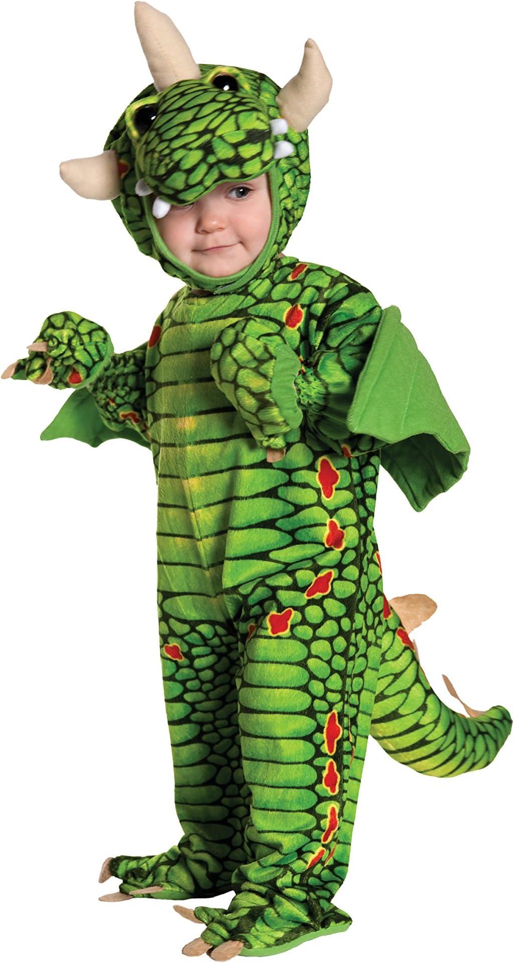 Kids Girly Dragon Print Deluxe Halloween Costume Fire Breathing Dragon Tutu Dress Little Girls Size 6 12 Months 2T 3T 4 5 6 7 8
