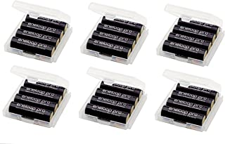 Battery Storage Case/Holder/Container for AA/AAA Cell Batteries with Charging Status Reminder (6-Pack) - Clear Color