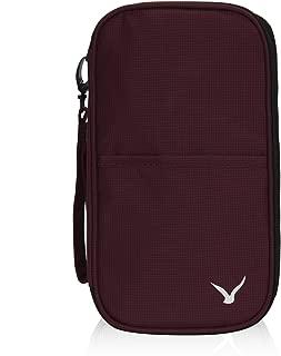 Hynes Eagle Unisex RFID Blocking Travel Wallet Purse Passport Holder Brown