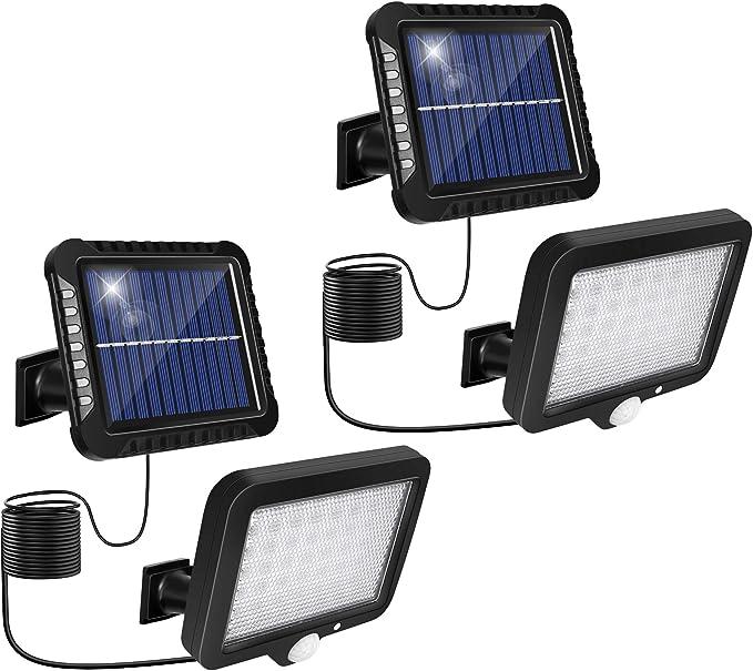 75 opinioni per Lampade solari da esterni, luci solari da giardino con sensore di movimento ,