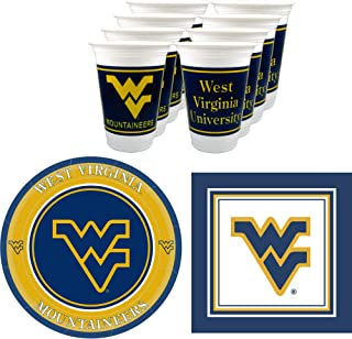 West Virginia Mountaineers Party Supplies - Serves 16 (48 Pieces)