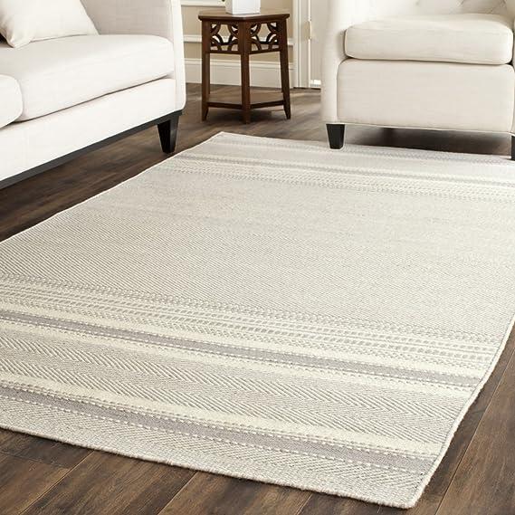 Designer Carpet webteppich Kilim Hand Woven 100/% Cotton Modern Marl Grey
