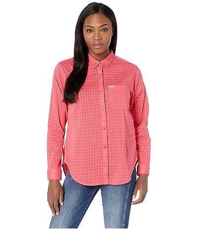 Columbia PFG Sun Driftertm II Long Sleeve Shirt (Bright Geranium Windowpane) Women