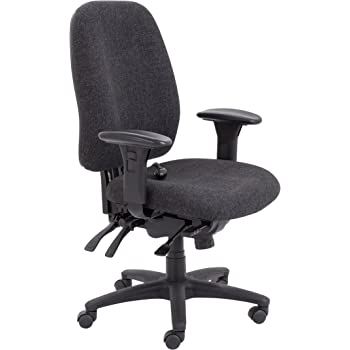 Office Hippo Ergonomic Office Chair with Back Support, Orthopedic Office Chair Heavy Duty, Adjustable Arms, Lumbar Support, Charcoal