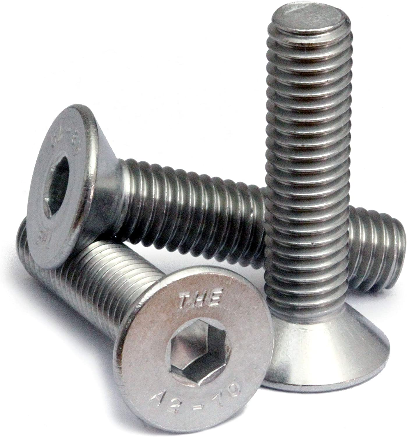 M4 X 10 Slotted Countersunk Machine Screws A2 stainless DIN 963-10 pk