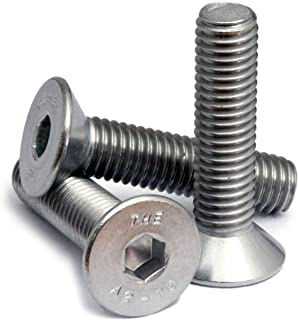 AISI 304 Stainless Steel Aspen Fasteners Flat Socket Cap Screws M8-1.25 X 12mm Metric 18-8 Hex Socket Drive DIN 7991 and ISO 10642 25 pcs