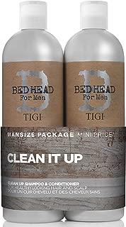 Tigi Bed Head B for Men Clean Up Kit By for Men - 2 Pc Kit 25.36 Oz Shampoo, 25.36 Oz Conditioner, 2count