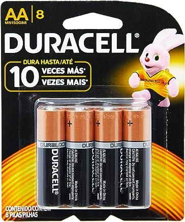 Duralock Pilha Alcalina AA com 8 Unidades, Duracell