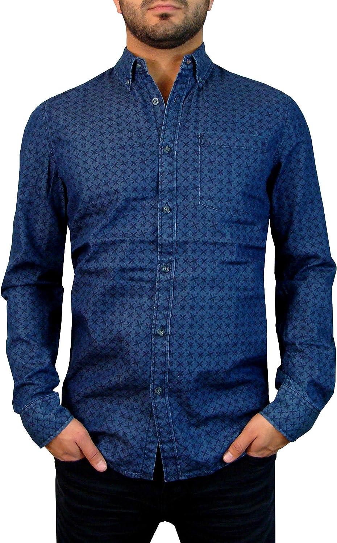 Indigo Star Amumu Long Sleeve Woven Button Down Casual Shirt for Men