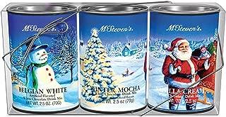 McSteven's White Christmas White Chocolate Drink Mix Gift Set, 3-Count, 2.5-Ounce Tins - Belgian White, Winter Mocha & Vanilla Cream