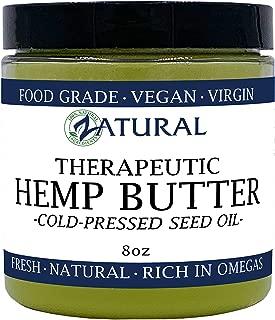 HEMP BUTTER | 100% All Natural Hemp Butter - Handcrafted - Assist with Pain, Stress, and more - Food Grade - vegan (8 Ounce)