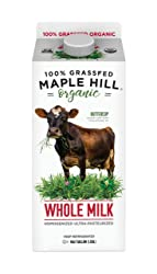 Maple Hill Creamery, 100% Grass Fed Organic Whole Milk, Homogenized and Ultra-Pasteurized, 64 oz