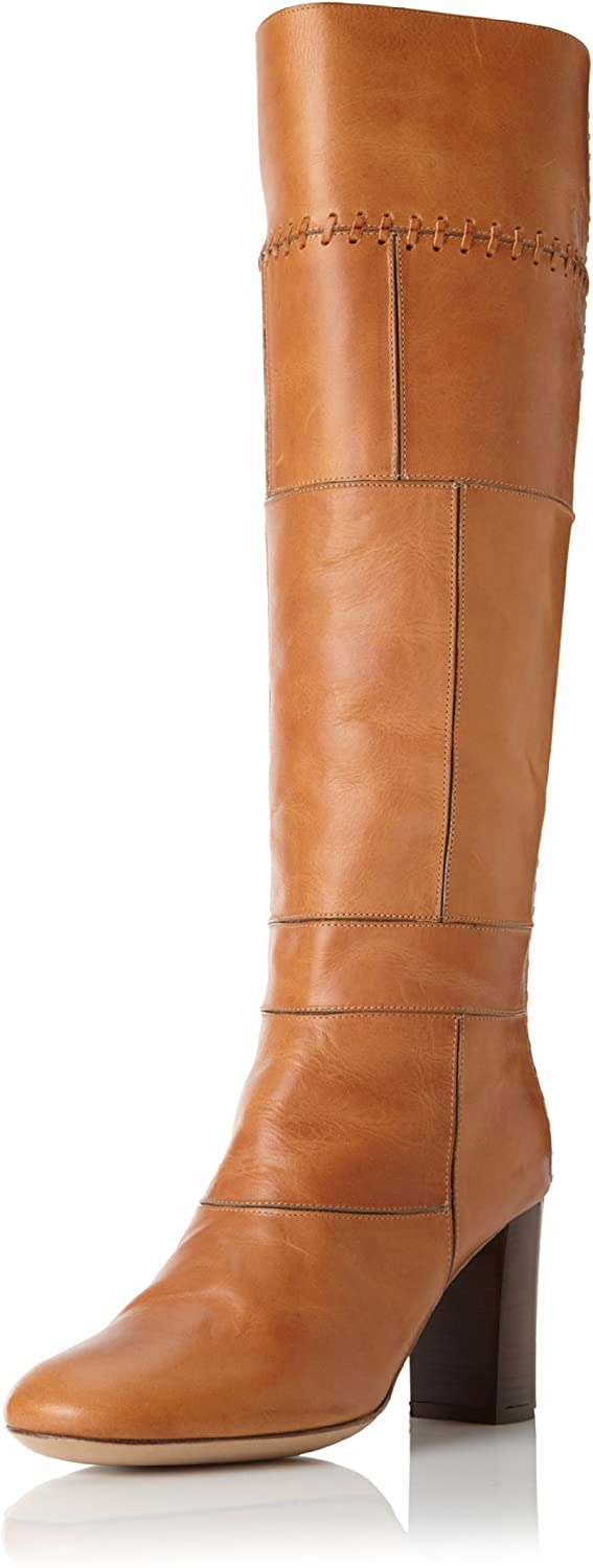 SEE BY CHLOé Whipstitched Patchwork Knee Boot Elah