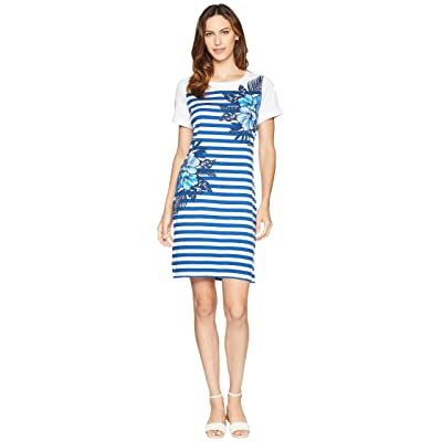 Tommy Bahama Fuego Floral Stripe Dress (Dark Cobalt) Women