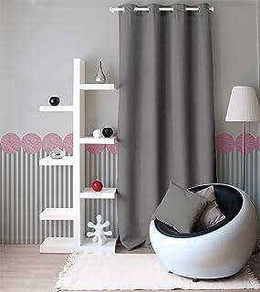 Enjoy Home 2015GRC140240 Polyester Canvas Curtain with 8 Eyelets 140 x 240 cm Light Grey 240 x 140 cm