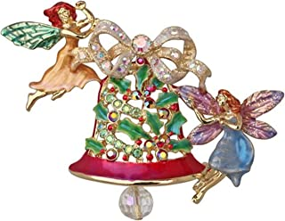 Kirks Folly Holiday Fairy Pin Ding Dong Fairy Bell Pin Pendant