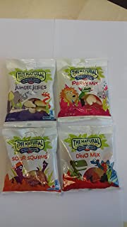 Natural Confectionery Dino Mix, Party Mix, Sour Squirms, Jungle Jellies 130g/4.6oz hanging bags