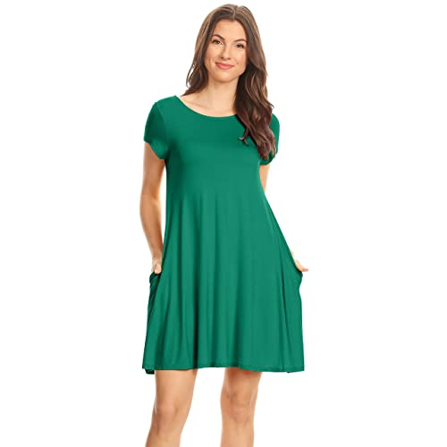 7d99b0f913 Casual T Shirt Dress for Women Flowy Tunic Dress with Pockets Reg and Plus  Size -