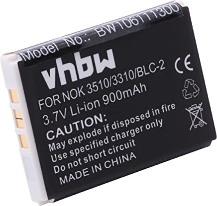vhbw batteria compatibile con Nokia 3310, 3330, 3410, 3510, 3510i, 5510, 6650, 6800, 6810, etc. Sostituzione BLC-2, US804533A1T4.