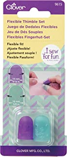 Clover 9615 I Sew for Fun Flexible Set Thimble, Purple and Blue 2