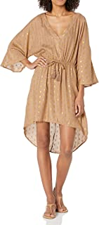 Kenneth Cole New York Women's High-Low Tie Front Mini Dress Swimsuit Cover Up