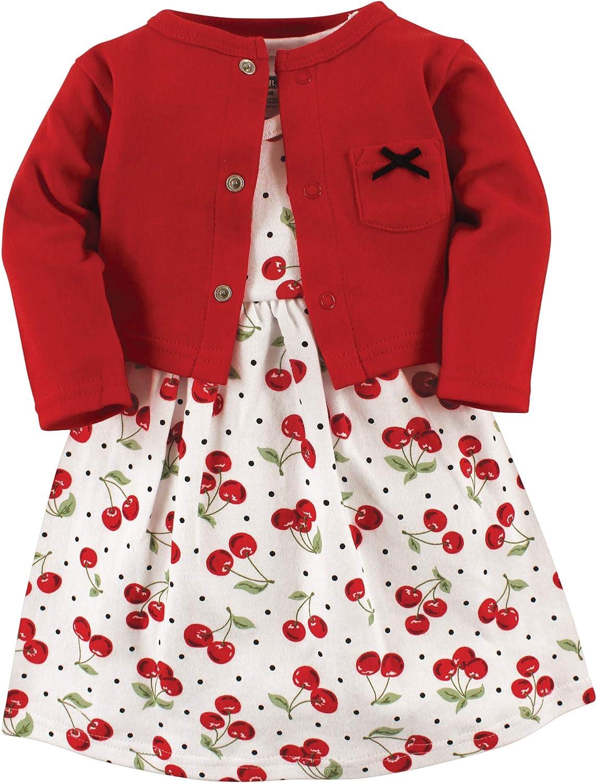 Hudson Baby Girls' Cotton and Set Cardigan New York Mall Omaha Mall Dress