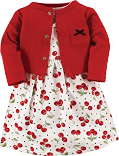 Hudson Baby Baby-Girls Dress and Cardigan Set Long Sleeve Casual Dress