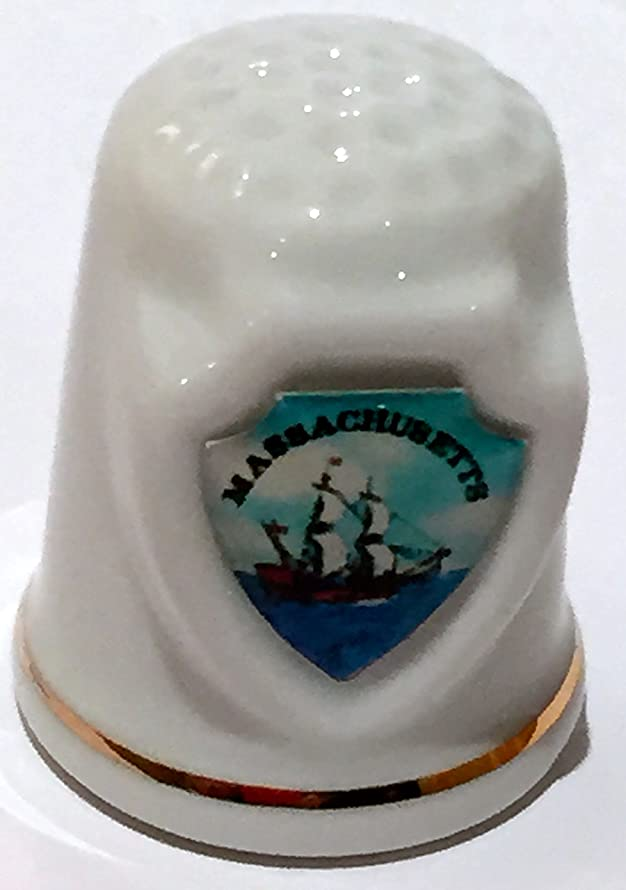Massachusetts State Souvenir Collectible Lpco Thimble