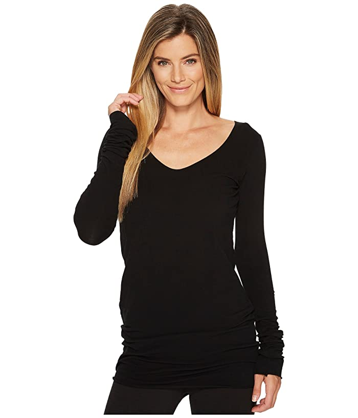 Hard Tail Sexy Long Skinny Tee (Black) Women's T Shirt