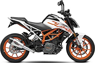 YOSHIMURA 16381BP520 ALPHA T Slip-on Exhaust Street SS-SS-CF with Works Finish for 2017-2018 KTM RC390 & 390 Duke, 16381BP520
