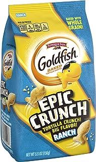 Pepperidge Farm Goldfish Epic Crunch Ranch Crackers, 5.5 oz. Bag, 5.5 Ounce
