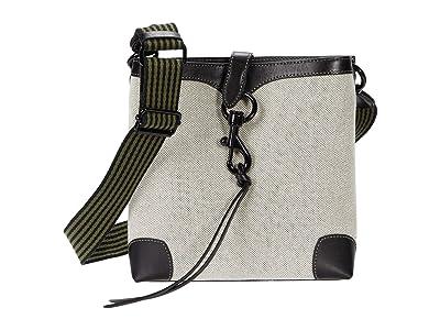 Rebecca Minkoff Megan Small Feed Bag w/ Webbing Strap (Black) Handbags