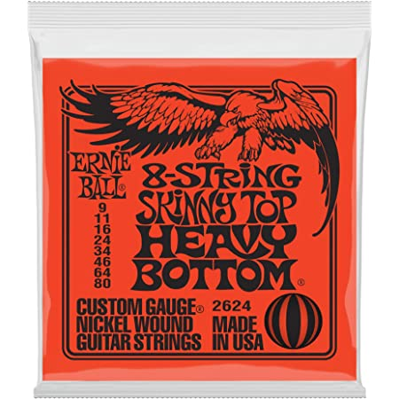 Ernie Ball 8-String Skinny Top Heavy Bottom Nickel Wound Set, .009 - .080