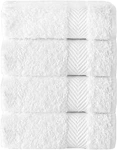 Enchante Home Kansas Hotel Collection 100% Turkish Cotton Wash Cloths, Set of 4