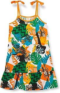 Vestido Punto Tirantes NIÑA Naranja Party Animal