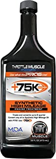 Throttle Muscle TM6323 Oil Treatment HIGH Mileage Synthetic with PTFE 16