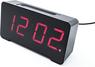 Sandman 4 Port USB Charging Alarm Clock (Black)
