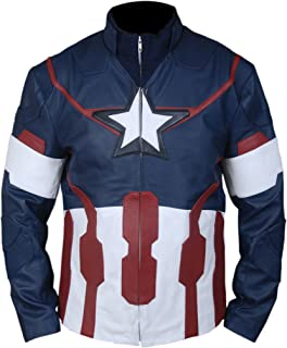F/&H Kids Captain America Winter Soldier Pullover Genuine Leather Jacket