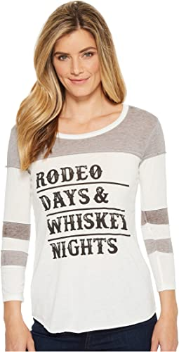Rock and Roll Cowgirl - 3/4 Sleeve Tee 48T5552