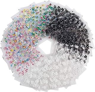 Pegatinas Uñas, Diealles 50 Hojas 3D Pegatina Decoracion para las Uñas Decal DIY Etiqueta Decoración Arte Adhesivos Uñas P...