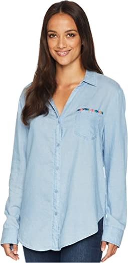 Classic Tencel Shirt w/ Embroidery