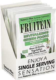 NaturesPlus Fruitein Revitalizing Green Foods High Protein Shake (8 Pack) - Tropical Fruit Flavor - 1.2 oz, Vegetarian Powder - Vitamins, Minerals & Enzymes - Non-GMO, Gluten-Free - 8 Total Servings