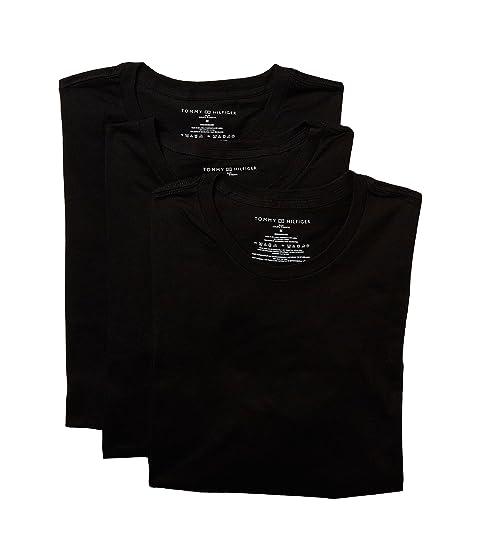 Crew Hilfiger Black Tommy Neck 3 Cotton Pack Classics Slim fUwSwq