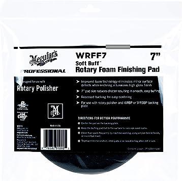"Meguiar's WRFF7 Soft Buff 7"" Rotary Foam Finishing Pad, 1 Pack , black: image"