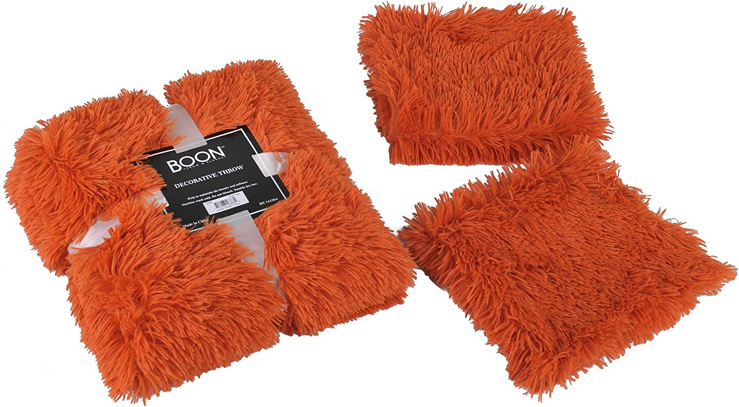 Max 60% OFF Home Soft Things Shaggy Throw Pillow Shell Burnt Fashionable Orange Combo